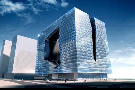 Este futurista edificio de Dubai se prepara para acoger el único hotel diseñado por Zaha Hadid