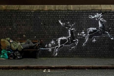 Banksy, una denuncia visceral de las contradicciones del 'espíritu navideño'